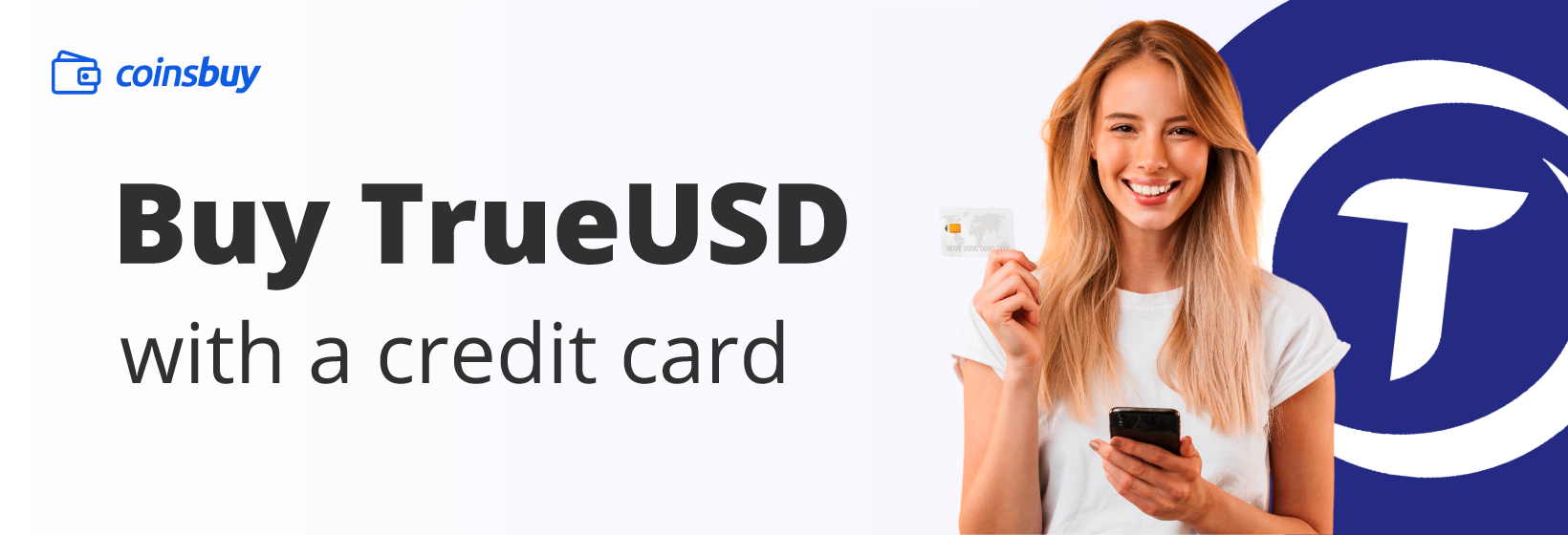 Buy TUSD with credit card